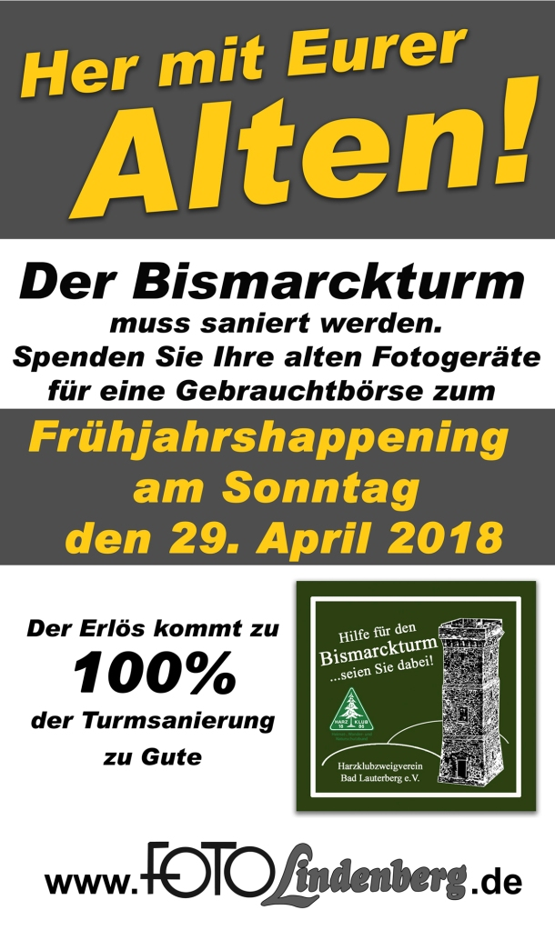 Schild für Bismarckturm Facebook